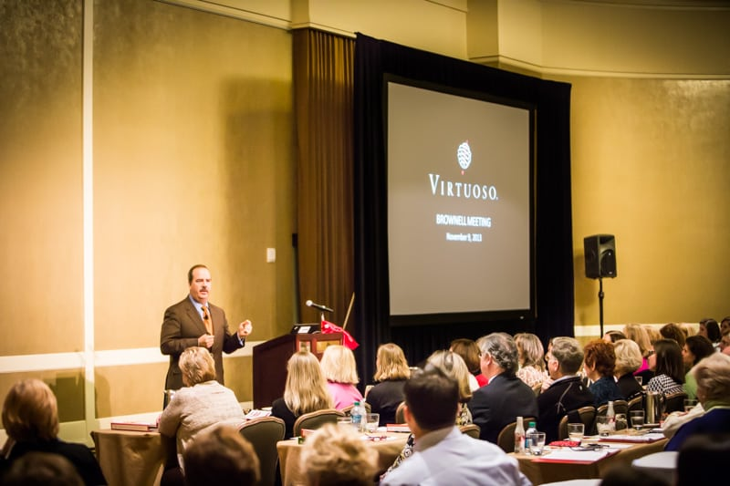 Matthew Upchurch, CEO of Virtuoso, gives the keynote speech at Brownell Company Meeting 2013
