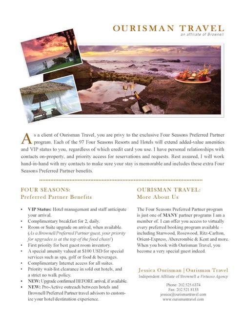 Ourisman Travel Brochure