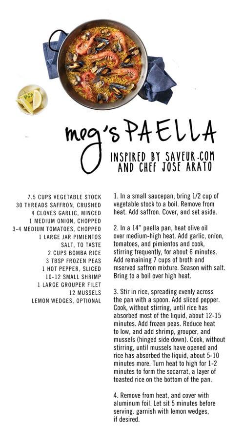 Meg's Paella - Infographic