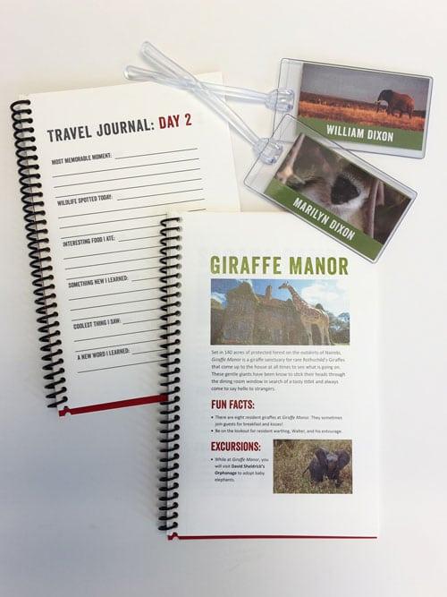 Customizable Safari Journal + Luggage Tags