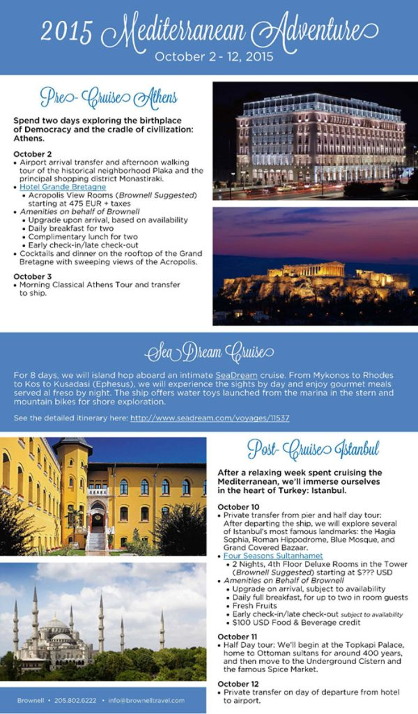 Trip Informational Brochure