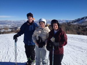 Deborah skiing in Deer Valley with her parents.