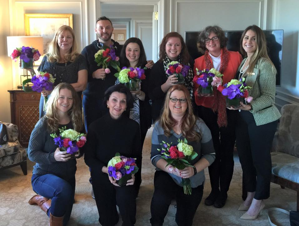 The Devonians at the Ritz-Carlton Central Park during a special flower arranging data-url=