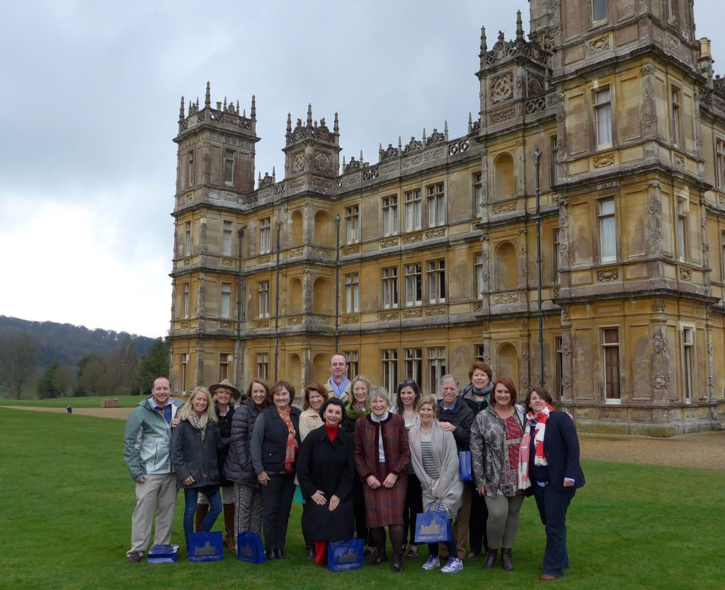 Brownell Advisors in front of Highclere Castle (aka Downton Abbey)