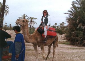 Meg on a Camel