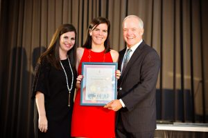 Louisa Gehring Receiving Award