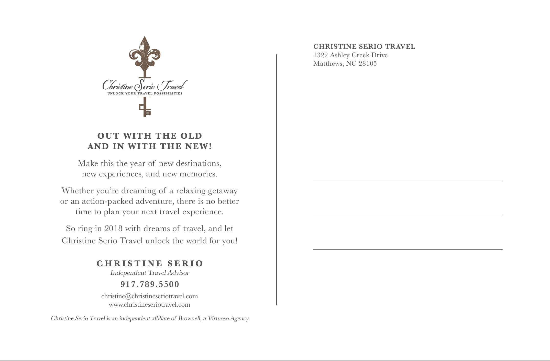 Christine Serio Postcard Back