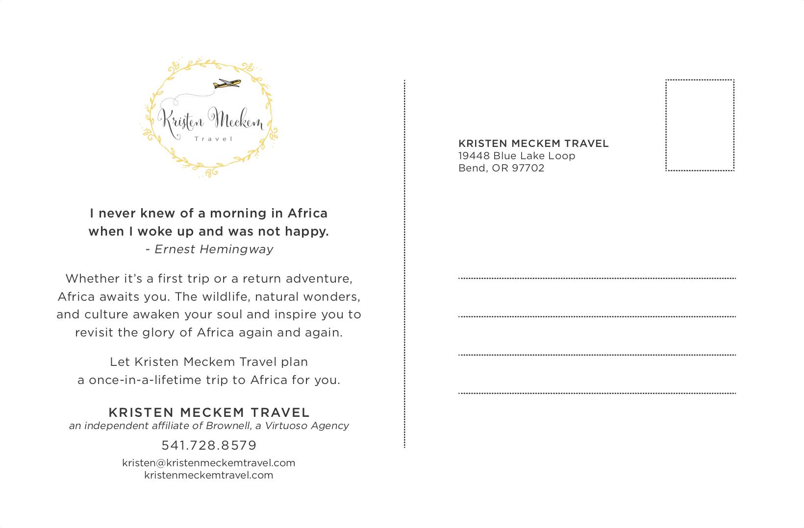Africa Awaits Postcard back