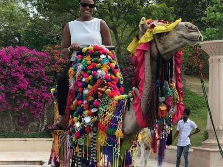 Tisha Neufville - Camel Ride at Oberoi Udaivilas in Udaipur, India